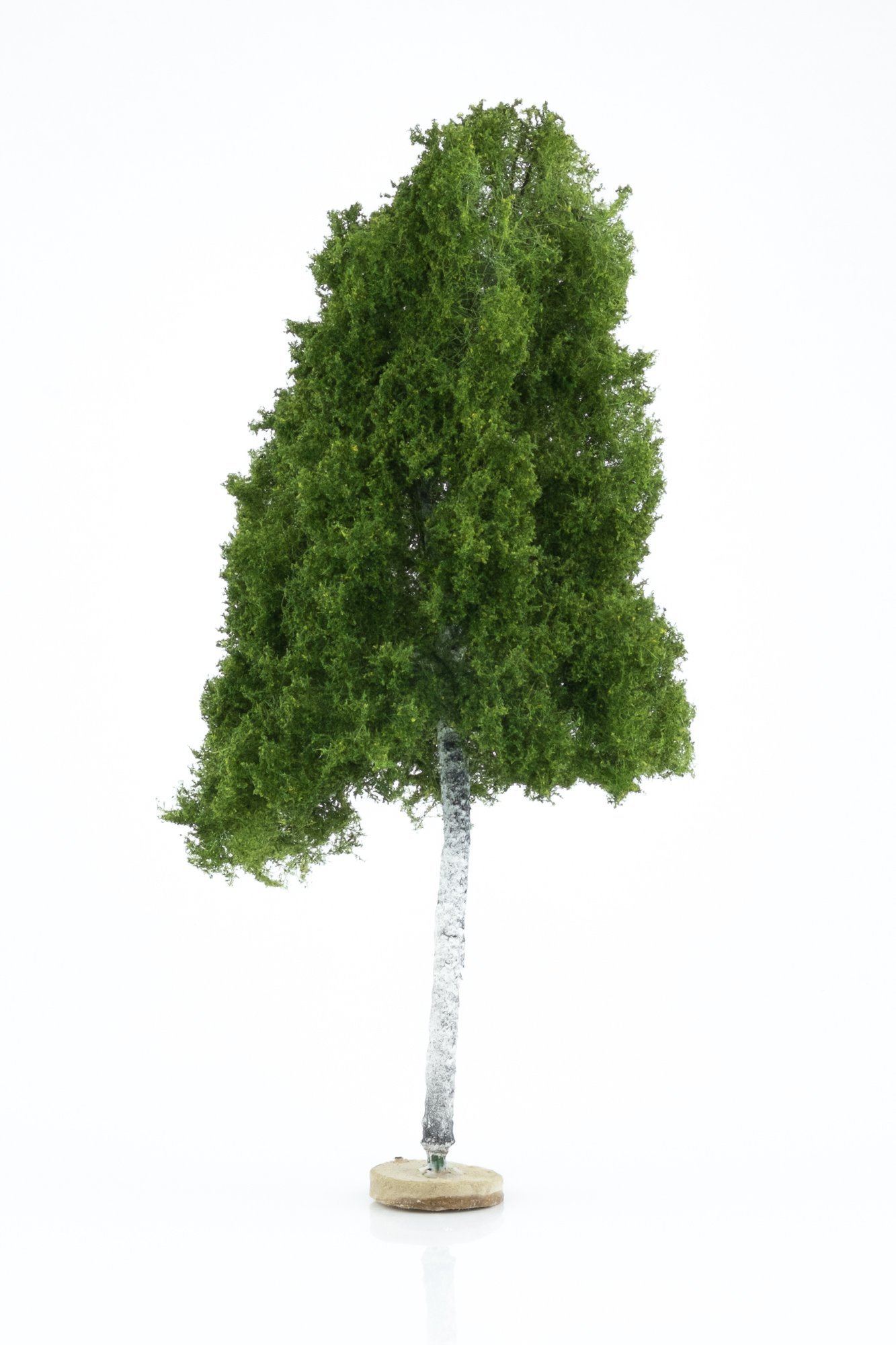 Hand-made, green, birch tree model. Size between 26 and 28 cm. Made from high quality model supplies by Primo Models.