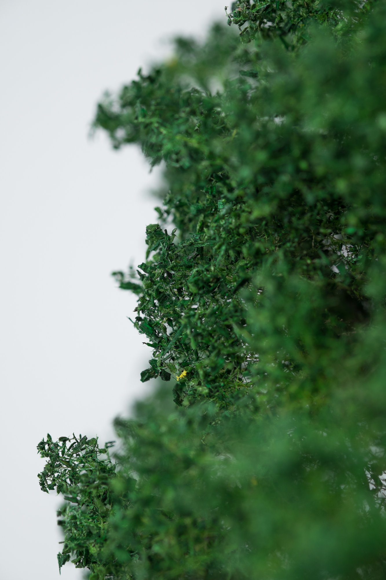 Closeup of foliage on chestnut tree model. Made from high quality model supplies by Primo Models.