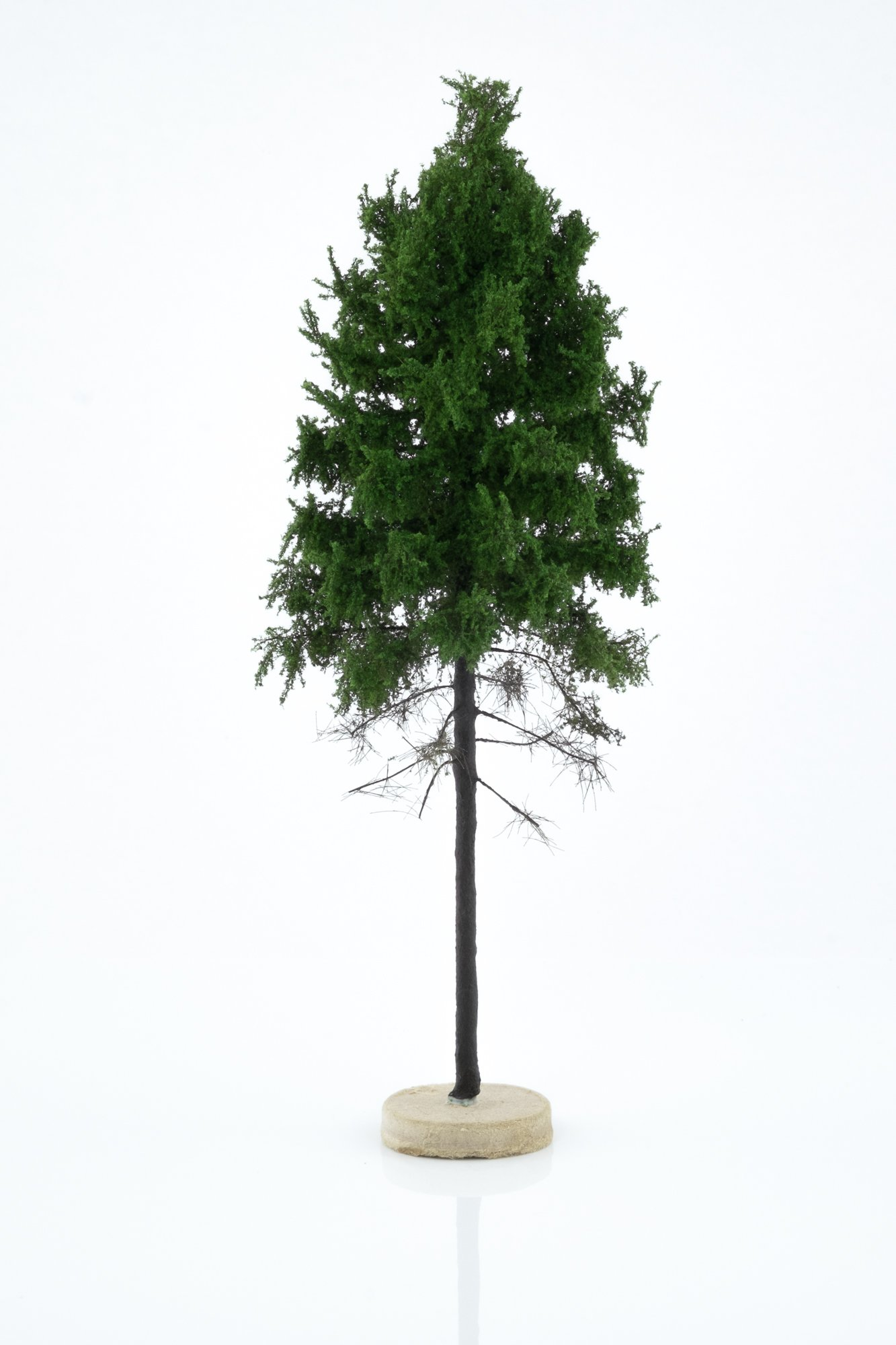 Hand-made, green, forest larch tree model. Size between 18 and 20 cm. Made from high quality model supplies by Primo Models.