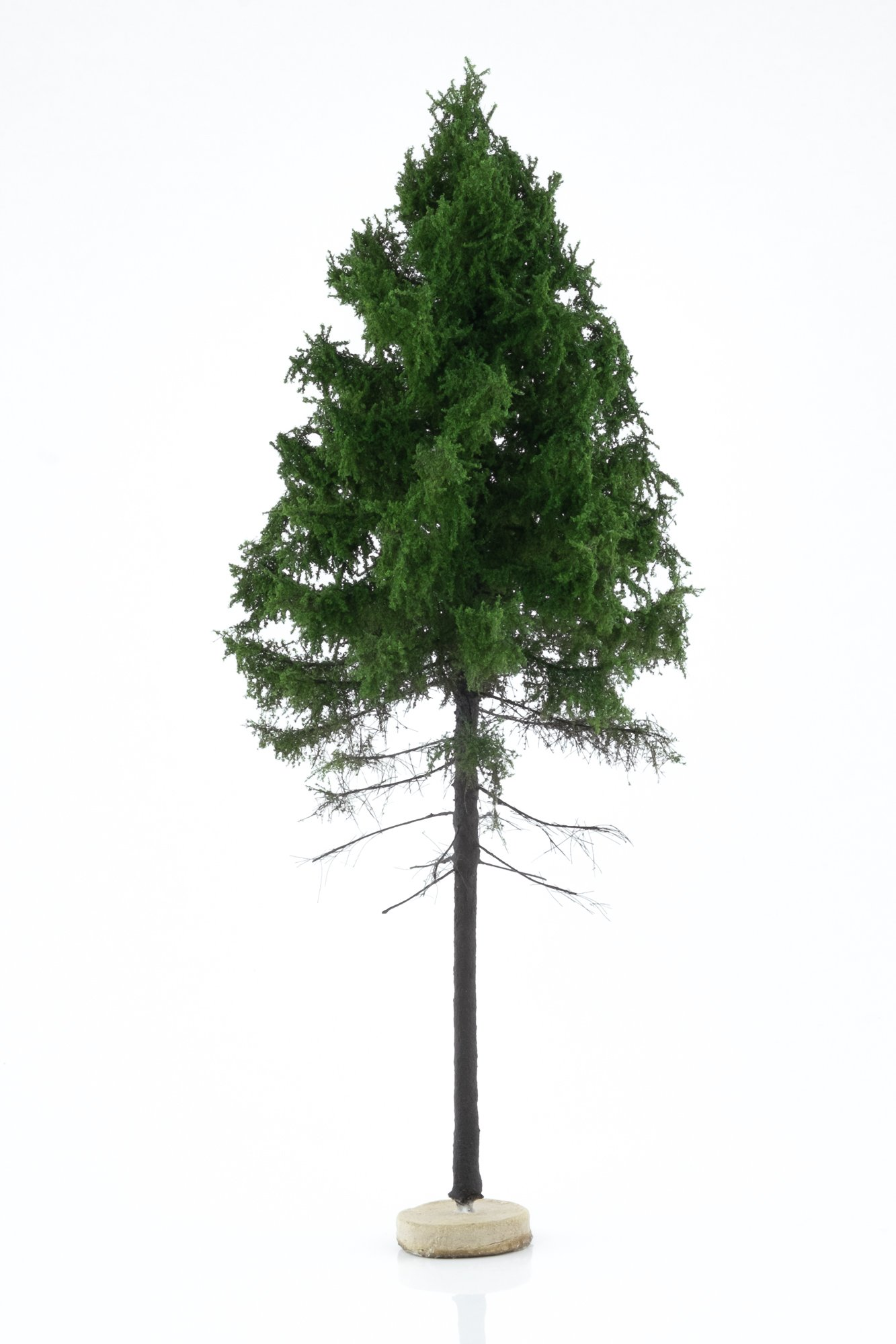Hand-made, green, forest larch tree model. Size between 26 and 28 cm. Made from high quality model supplies by Primo Models.