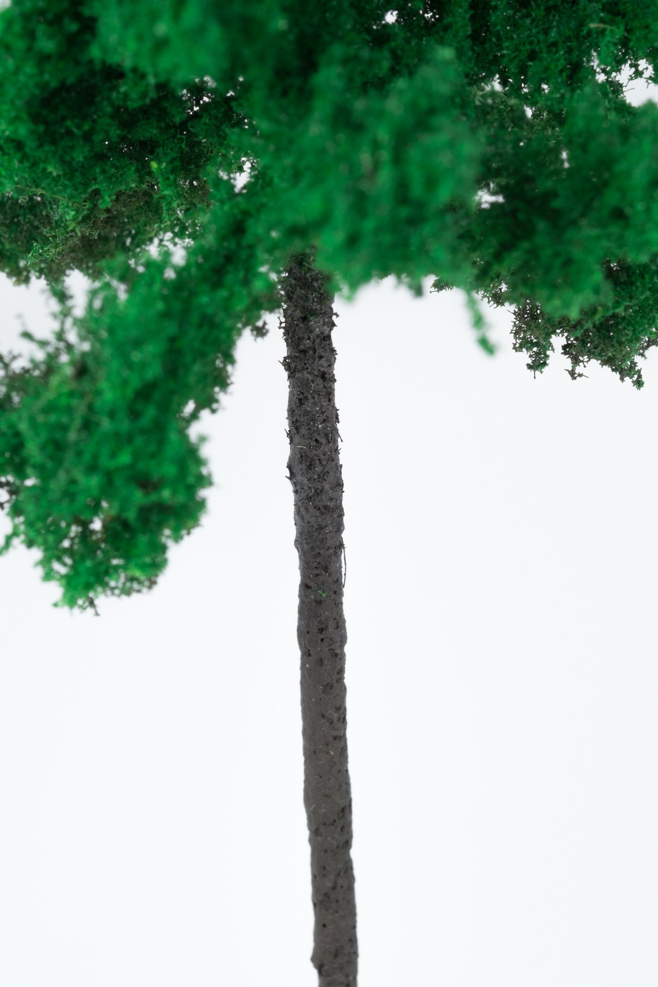Closeup of smallest forest spruce tree model. Made from high quality model supplies by Primo Models.