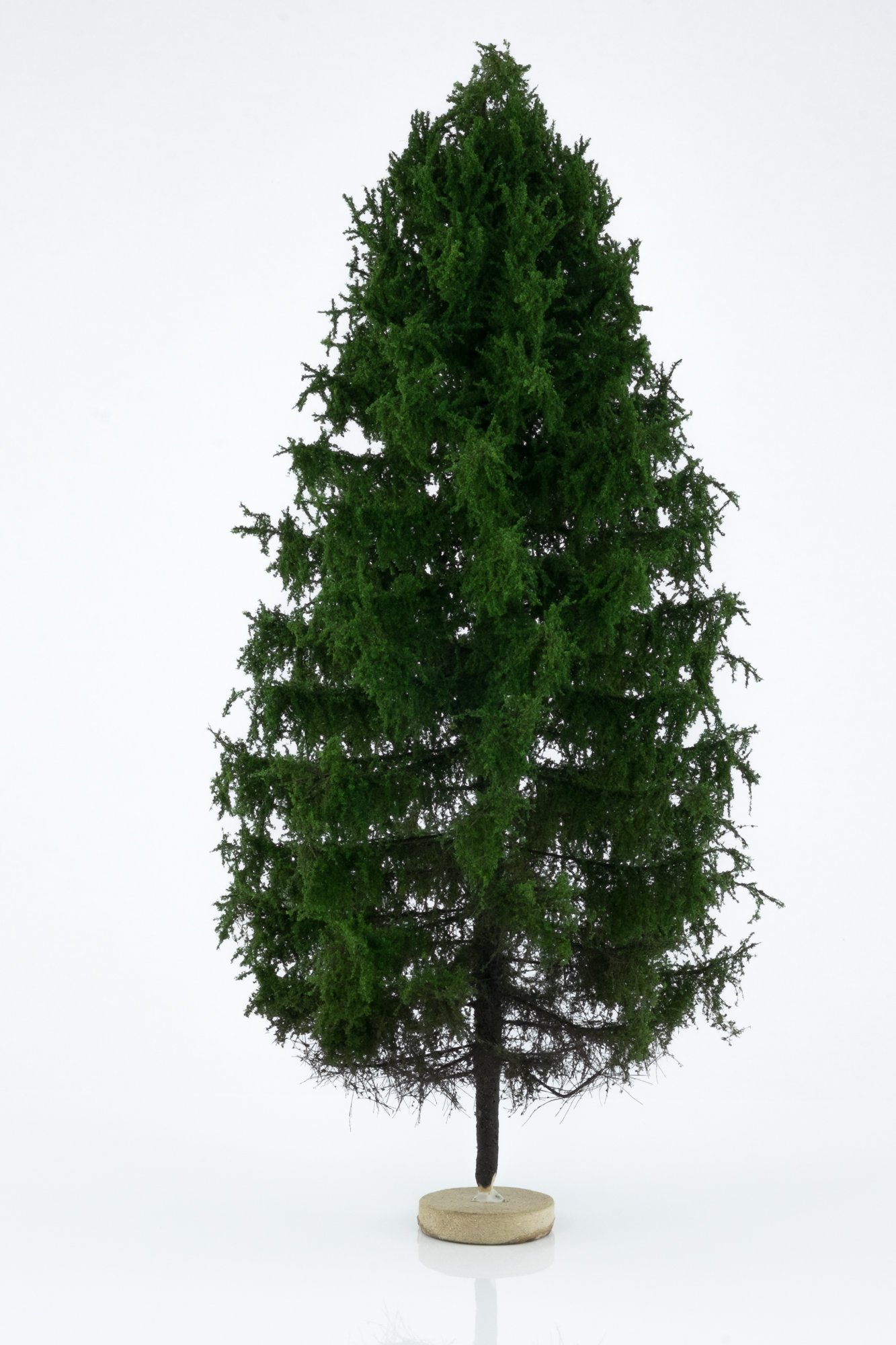 Hand-made, green, larch tree model. Size between 26 and 28 cm. Made from high quality model supplies by Primo Models.