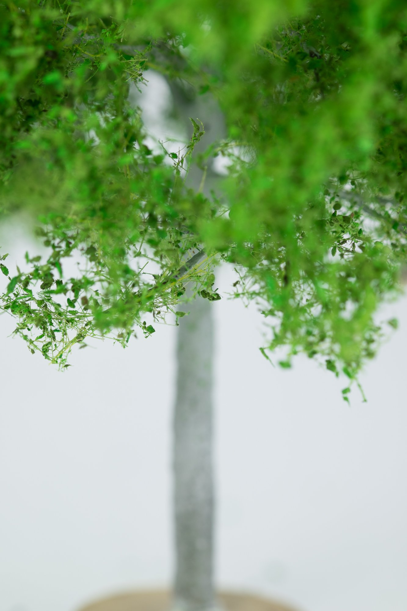 Closeup of maple tree model. Made from high quality model supplies by Primo Models.