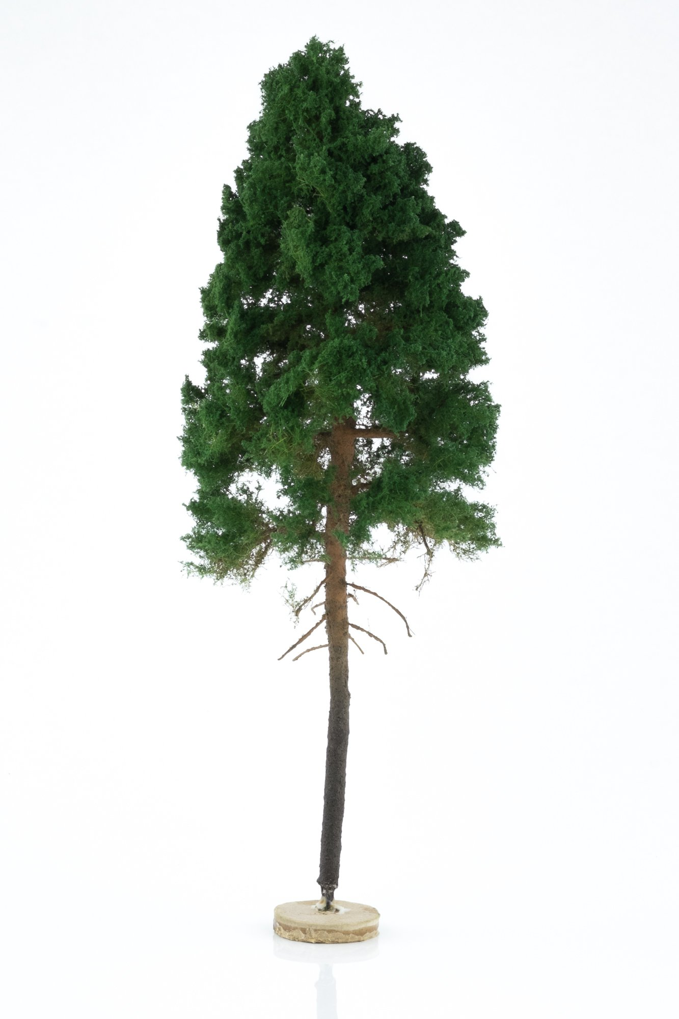 Hand-made, green, pine tree model. Size between 26 and 28 cm. Made from high quality model supplies by Primo Models.