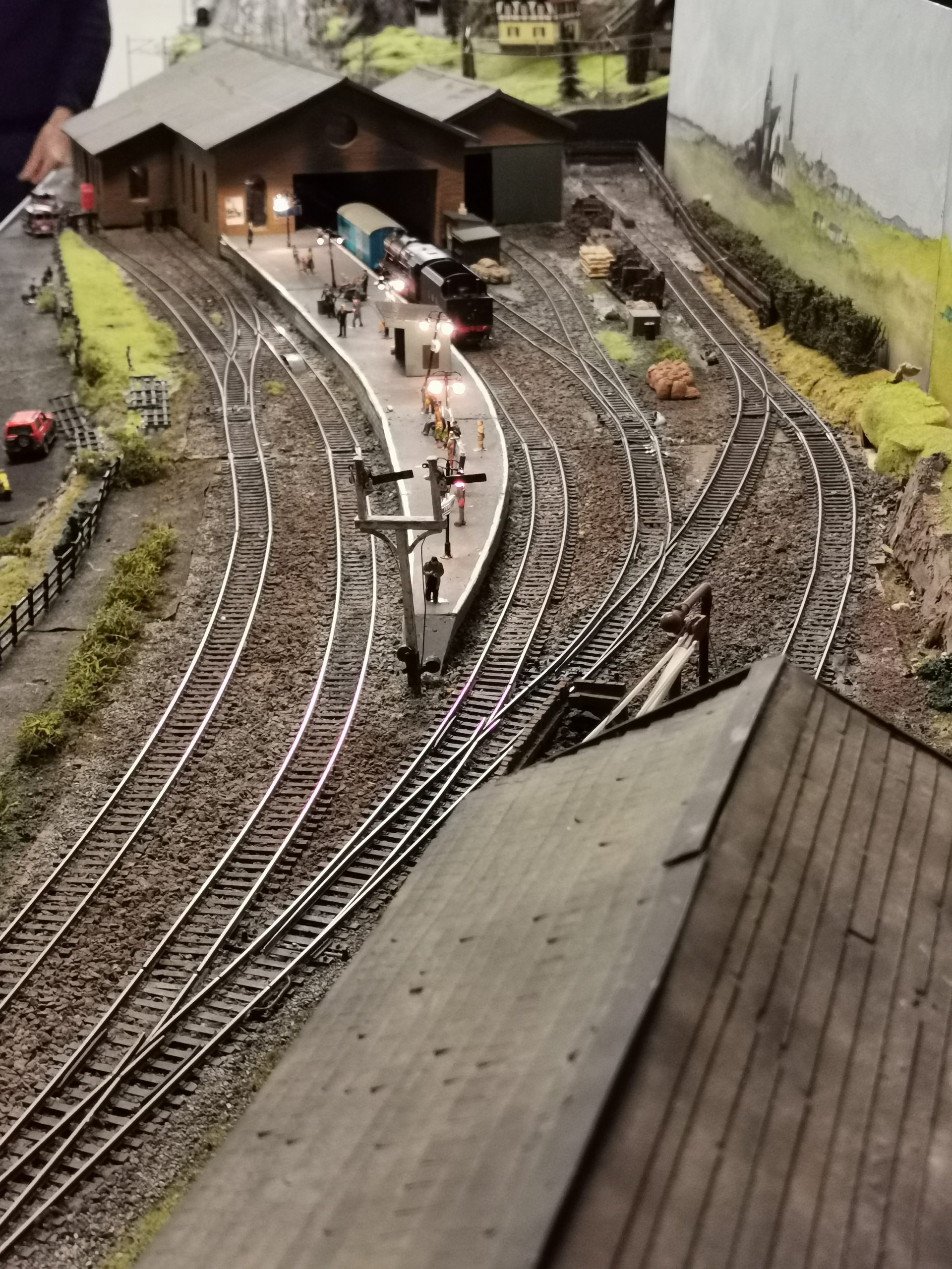 Historic station model replica at Clydeside Model Railway Club