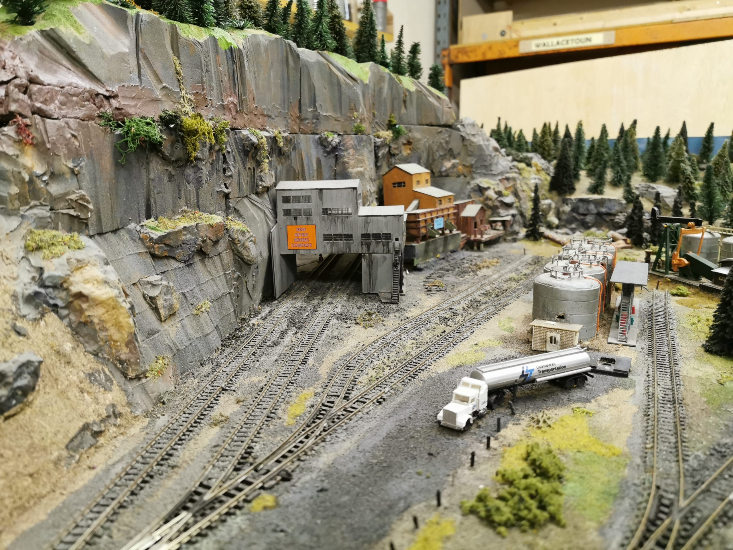 N scale layout in the Dundee Model Railway Club