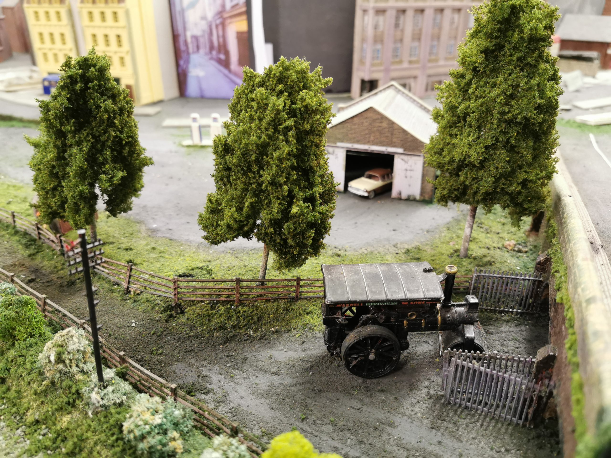 Primo Models trees on the layout of Glenrothes Model Railway Club