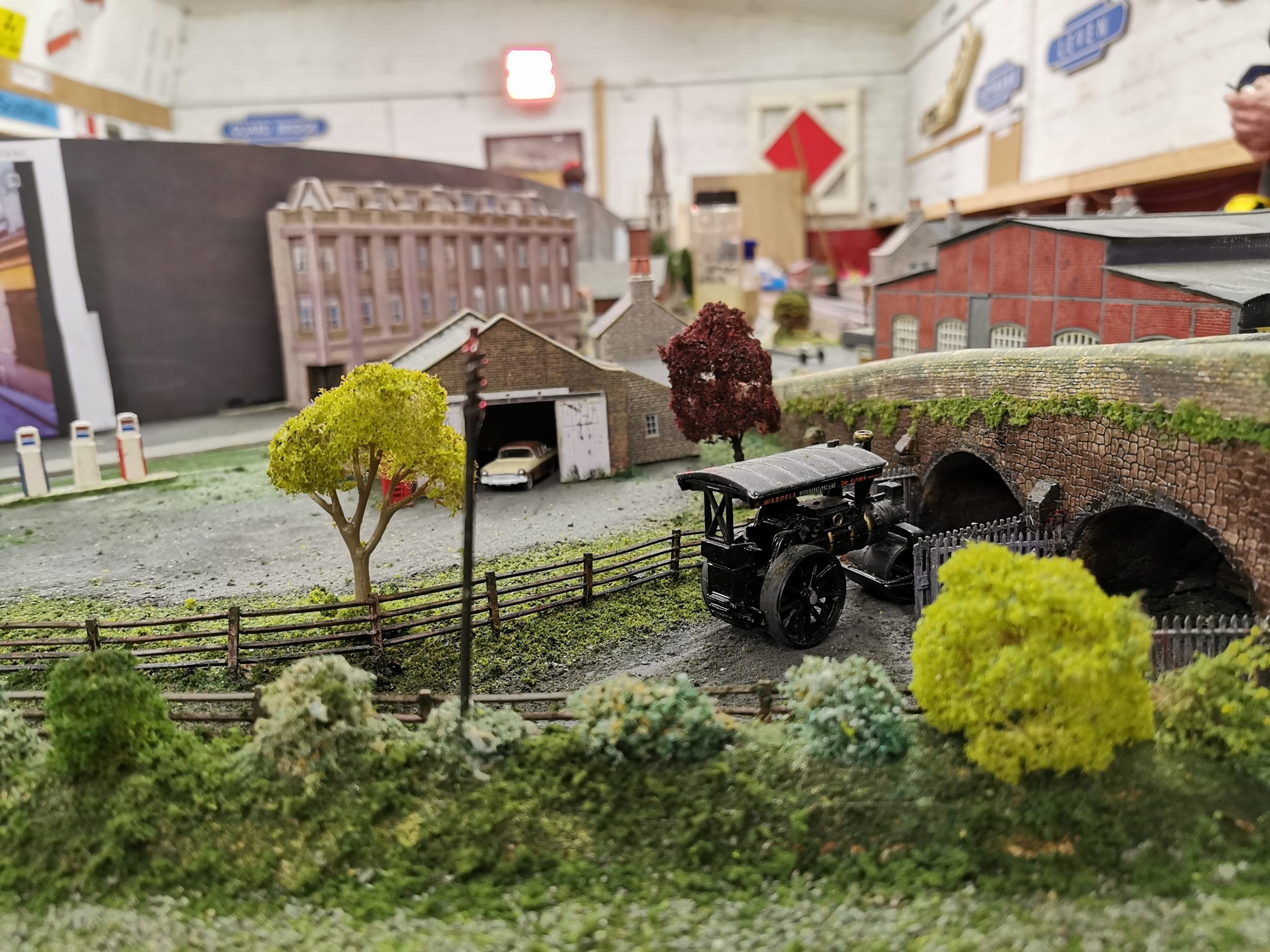 Model trees on the layout of Glenrothes Model Railway Club