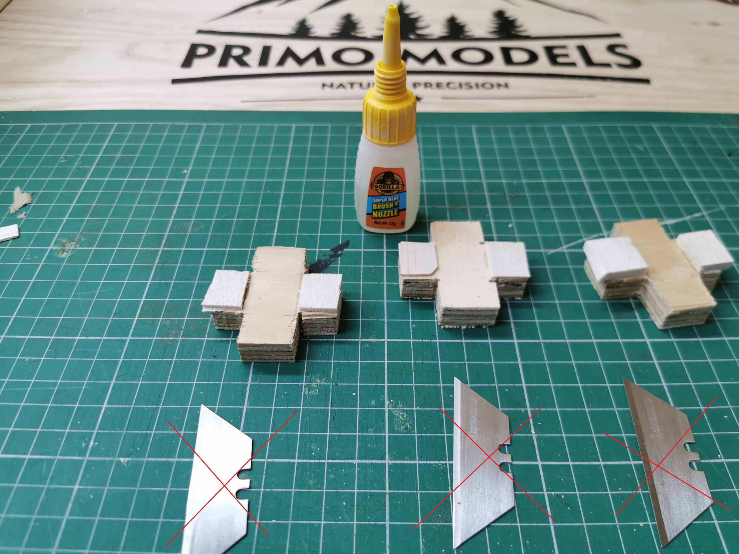 Base for Primo Models plank maker with balsa supports.