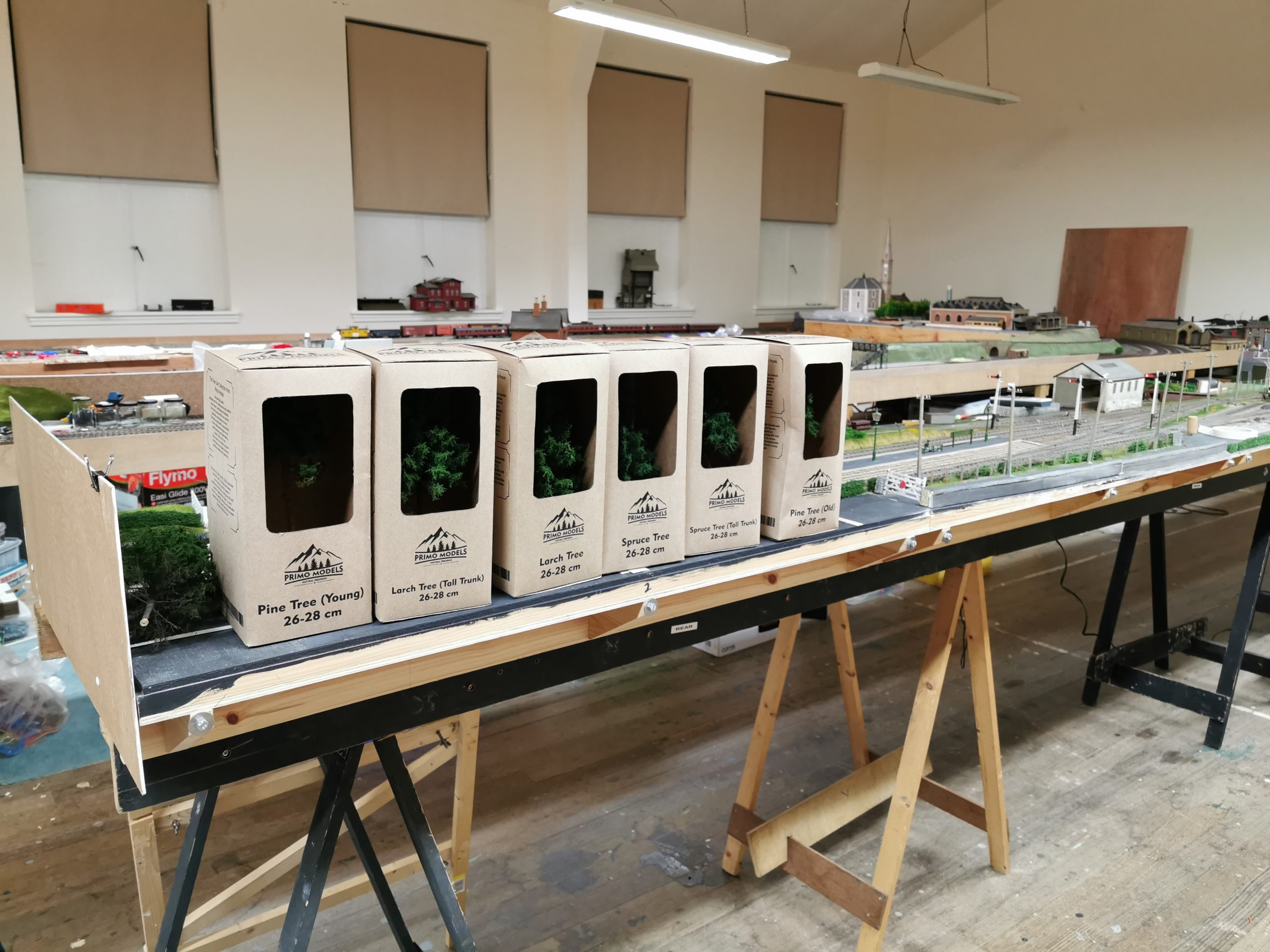 Collection of Primo Models Trees at Renfrewshire Model Railway club
